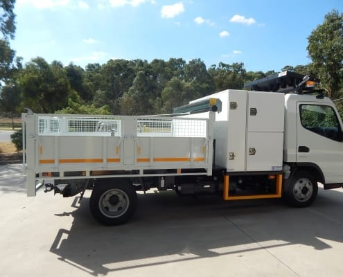 Hort Tipper with boxes, tank and tarp