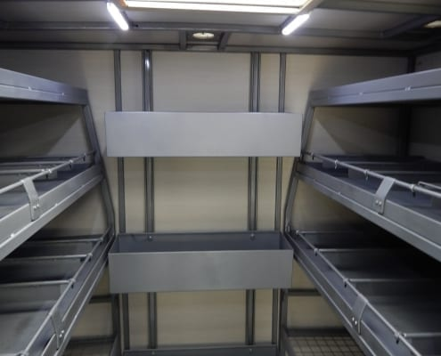 Autoklene Van - Racks and Skylight